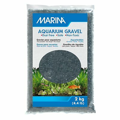 Marina Decorative Marine Gravel Black 2KG Aquarium Fish Tank Substrate