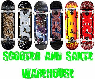 Deca Complete Trick Skateboard - Choose From Multiple Designs - Free Delivery