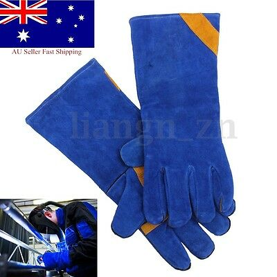 16'' Durable Welding Welder Work Soft Leather Plus Gloves for Hand Protecting