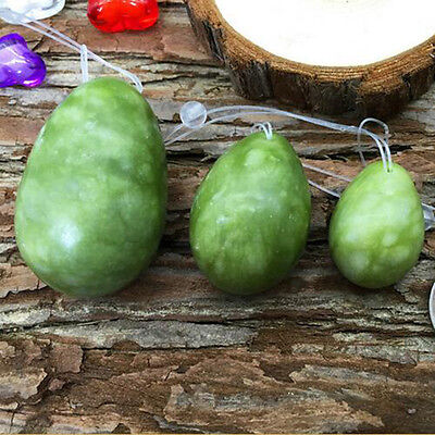 Green Gemstone Eggs Jade Jwerley Healing Crystalegg Healthcare Xiuyu