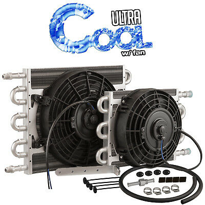 Proflow TCF515 Ultra Cool 10' x 15-1/2' Transmission Cooler -06AN Tube & Fin w/1