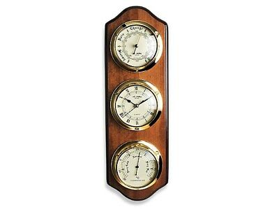 Widdop Triple Dial Clock And Weather Station Barometer