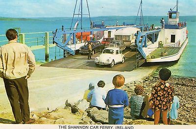 The Shannon Car Ferry Connecting Clare & Kerry Ireland Irish Penman Postcard