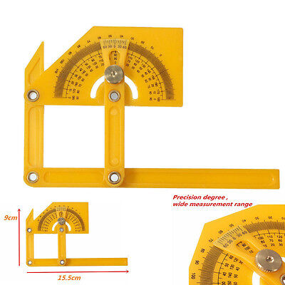 Angle Engineer Protractor Finder Measure Arm Ruler Brass Fittings Kit+Gauge Tool