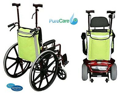 High Visability Safety Crutch & Walking Stick Mobility Scooter Wheelchair Bag