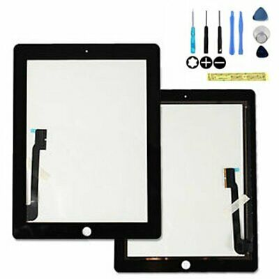 New Replacement Black Touch Screen and Digitizer For iPad  3&4 With Tools