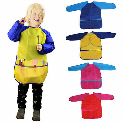 Childs/Kids Craft Apron for Painting Cooking Smock Waterproof with Pockets