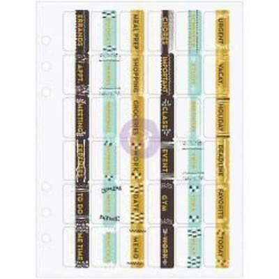 My Prima Planner - Planner Tabs - 36 Pretty Tabs with Gold Foil