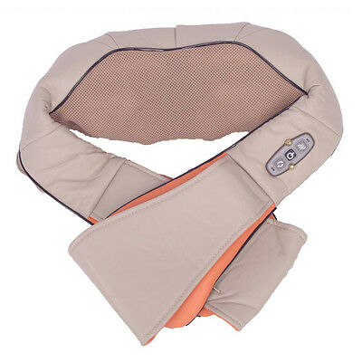 Using At Home and Car Heat Electric Shiatsu Neck & Shoulder Kneading Massager
