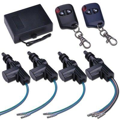 Universal Remote Control Central 2/4 Door Lock Kit Vehicle Keyless Entry System