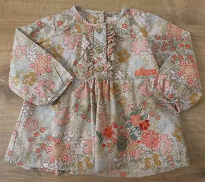 Confetti***Chemisier/blouse 12 mois 74 cm Motif floral Kaki rose orange