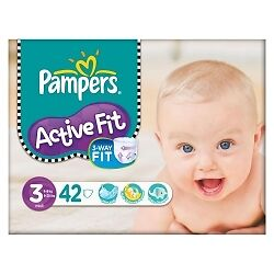 Pampers Active Fit S3 - 4x 42 Couches