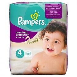 Pampers Active Fit S4 - 4x 25 Couches