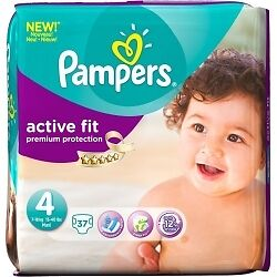 Pampers Active Fit S4+ / 4x 37 Couches