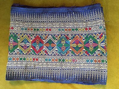 Vintage Ethnic Embroidered  Fabric