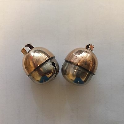 Pair of Falconry Bells Two Tensile Acorn Bell Size 2