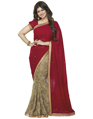 Bollywood Indian Pakistani Ethnic Party Wear Saree Designer Sari with Blouse 060