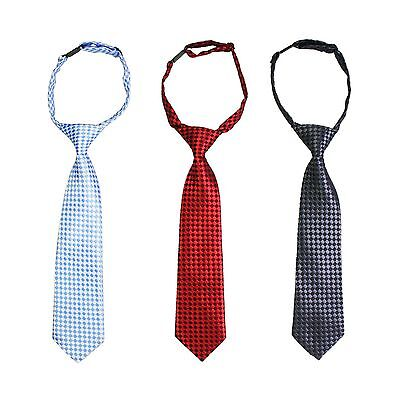 (3 PACK) ASSORTED Pre-Tied Tie Necktie FOR BOYS with Adjustable NECK STRAP