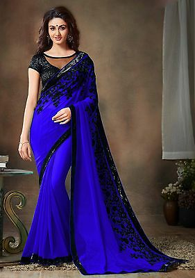 Bollywood Indian Pakistani Ethnic Party Wear Saree Designer Sari with Blouse 137