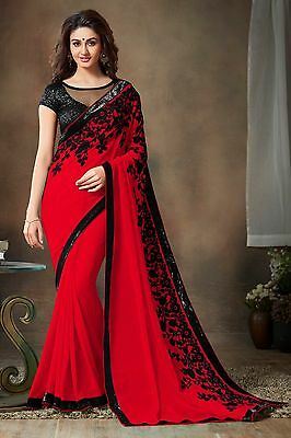 Bollywood Indian Pakistani Ethnic Party Wear Saree Designer Sari with Blouse 146