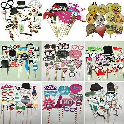 Party Birthday Photo Booth Props Mask Glass On A Stick Wedding Hen Party Decor
