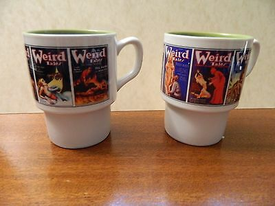 Lot of 3 pulp magazine new 11 oz. coffee cup mugs Weird Tales Astounding Stories