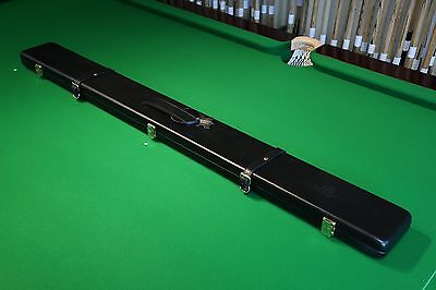 Peradon Black Short 3/4 Snooker Cue Case, Real Leather & Suede, Chesworth Cues