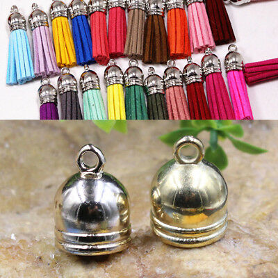 Brass  Accessories Findings Beads End Cap 50pcs Caps  Jewelry DIY Necklace