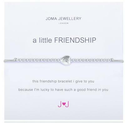 Joma Jewellery A Little Friendship Silver Plated Bracelet + Free Gift Bag/Tag