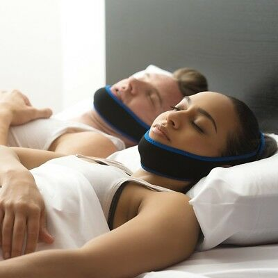 UK Anti Snoring Aid Chin Strap Belt Stop Snore Device Apnea Jaw Support Solution