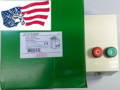 New Schneider LE1D32M Replacement for AMES LE1DD32M Motor Magnetic Starter 220V