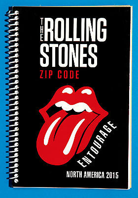 The Rolling Stones NORTH AMERICA TOUR 2015 ITINERARY BOOK - RARE BAND ENTOURAGE