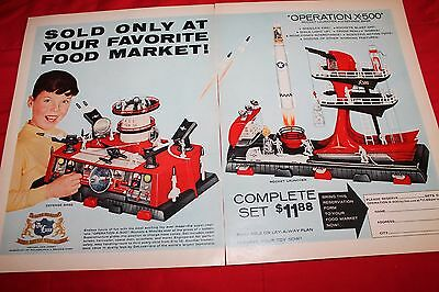 Vintage Ad Life magazine 1960 Operation x-500 by DeLuxe Rockets Missiles Space