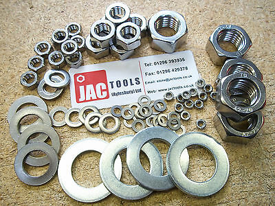 Nuts & Washers A2 Stainless Steel For Bolts & Screws M3 4 5 6 8 10 12 14 16 20