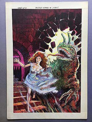 Monster Hunters #5, Apr. '76, Painted Cover Original Art by Tom Sutton, Charlton