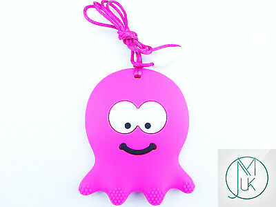Silicone Baby Teething Necklace Pendant Octopus Mum & Baby Jewellery 5 Colors