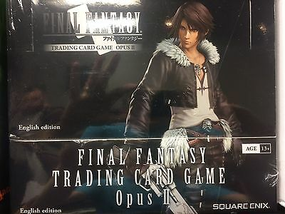 Final Fantasy Opus 2 Booster Box Factory Sealed Trading Card Game