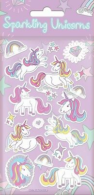 Paper Projects Sparkling Unicorns Foil Reusable Craft Stickers
