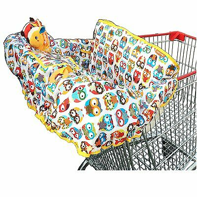 Croc-n-frog 2-in-1 Cotton Shopping Cart Cover | High Chair Cover for Baby