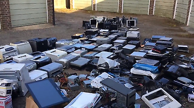 110 Laptop Joblot, with printers, monitors, switches,lots of parts