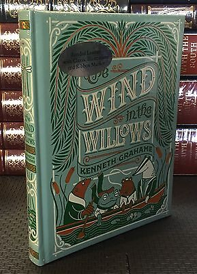 THE WIND IN THE WILLOWS by KENNETH GRAHAME Illustrated Leatherbound BRAND NEW