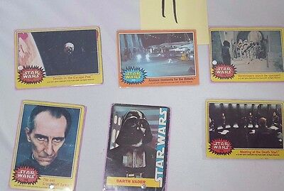 #11 Lot of 6 1977 20th Century Fox Star Wars Cards