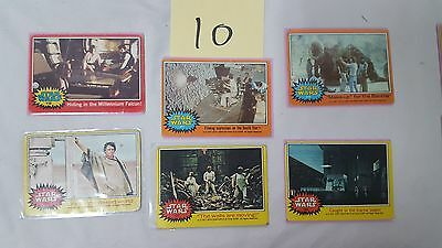 #10 Lot of 6 1977 20th Century Fox Star Wars Cards