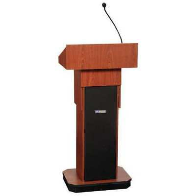 Lectern,Full Height, Sound,Mahogany AMPLIVOX SOUND SYSTEMS S505A-MH