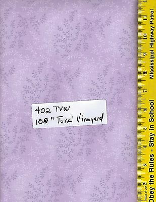 """100/% COTTON BTY TONAL VINEYARD 47603 207 TVW 108/"""" EXTRA WIDE QUILT BACKING"""