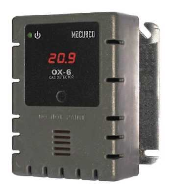 Fixed Gas Detector,O2,900 sq. ft. MACURCO OX-6