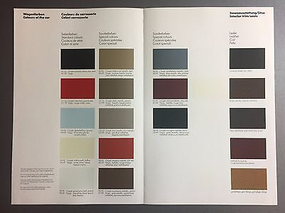1983 Porsche 911 SC & 911 Turbo FACTORY issued Color Chart Showroom Folder RARE!