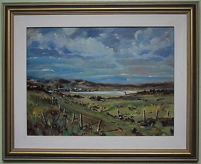 Original Authentic Oil Painting DONEGAL by Irish Artist JAMES MOORE Framed