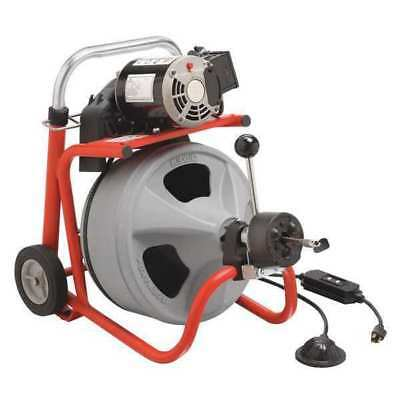 "RIDGID 27013 Drain Cleaning Machine,1/3 HP, 1/2"" x 75 ft. Solid Core Cable"
