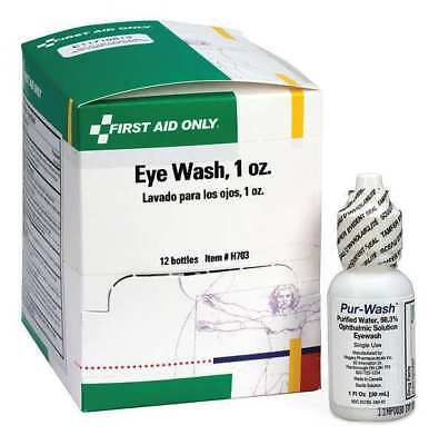 FIRST AID ONLY H703GR Personal Eye Wash Bottle,1 oz.,PK12 G1662109